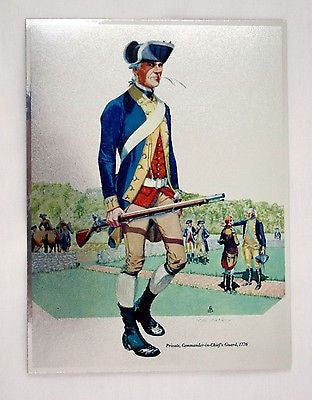 Vintage Tom Parker Continental Soldier Private Commander in Chief's Guard Foil Etch Print