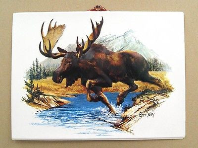 Vintage 1970's Fred Sweney Moose Formcraft Vacuum Form Print 1