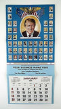 Vintage 1981 Jimmy Carter Presidential Biographies Calendar Print