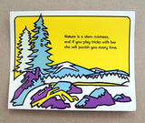 Vintage 1971 Fred Sweney Moose Fold Out Art Card Print