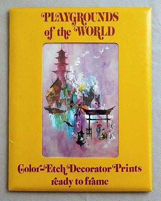Vintage Frans Van Lamsweerde Playgrounds of the World Color Etch Print Set 1