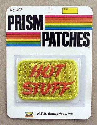 Vintage 1970's Hot Stuff Reflective Prism Patch 2