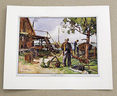 Vintage 1970's Lionel Barrymore Point Mugu Color Foil Etch Print