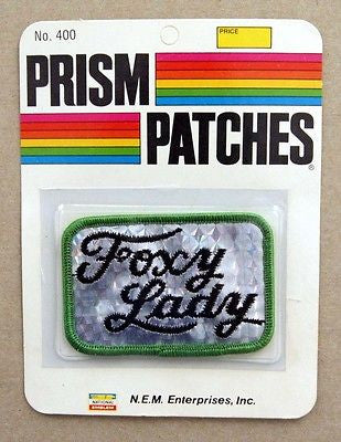 Vintage 1970's Foxy Lady Reflective Prism Patch 2