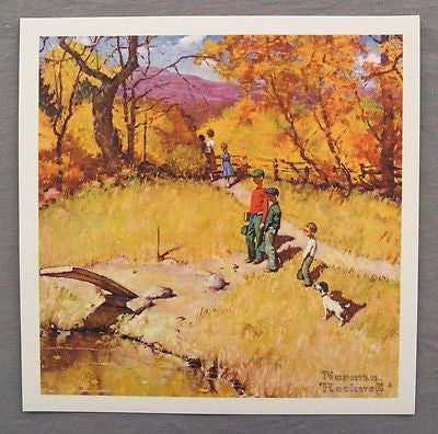 Vintage Norman Rockwell Sweet Memories Childhood Treasures Series Print 1