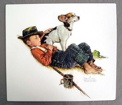 Vintage Norman Rockwell Adventures Between Adventures Vacuum Form Print