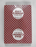 Gold Country Casino Poker Size Red Playing Cards