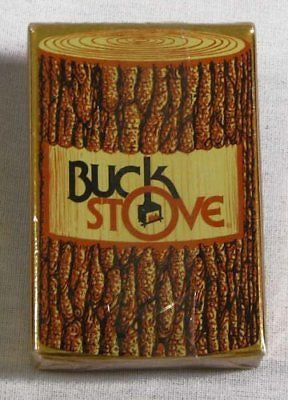 Vintage Buck Stove Poker Size Playing Cards