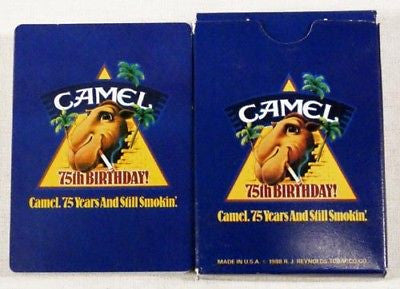 Vintage Camel 75th Anniversary Joe Camel Poker Size Playing Cards
