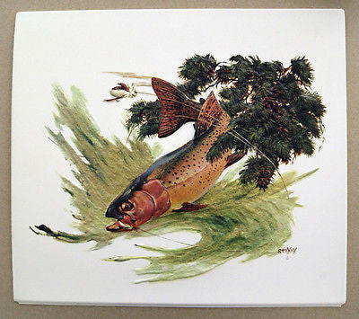 Vintage 1970's Fred Sweney Cutthroat Trout Formcraft Vacuum Form Print