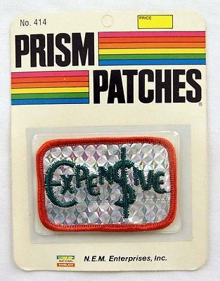 Vintage 1970's Expensive Reflective Prism Patch