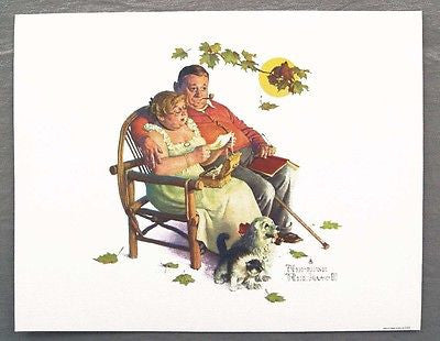 Vintage 1970's Norman Rockwell Fondly Do We Remember Four Seasons Series Print 2