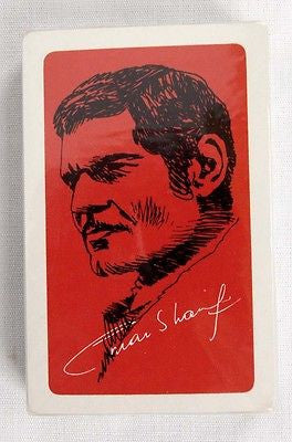 Vintage 1970's Omar Sharif Playing Cards 1