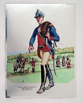 Vintage Tom Parker Private 1st Regiment of Continental Light Dragoons 1777 Foil Etch Print