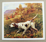 Vintage Stanford Fenelle Pointer Hunting Dog Formcraft Vacuum Form Print 1
