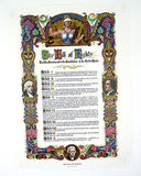 Vintage 1970's J. R. Rosen The Bill Of Rights Large Format Poster Print