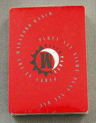 Marlboro Cigarettes Party at the Marlboro Ranch Poker Size Playing Cards