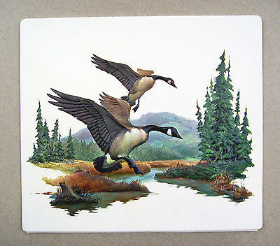 Vintage 1970's Fred Sweney Canada Geese Formcraft Vacuum Form Print 3