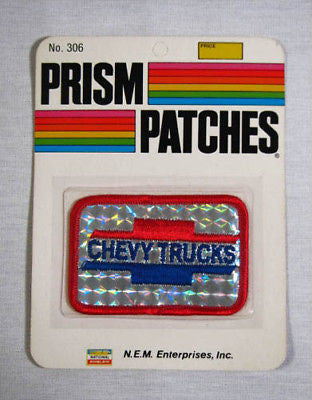 Vintage 1970's Chevy Trucks Reflective Prism Patch Factory Sealed