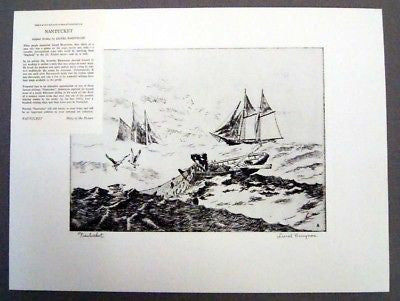 Vintage 1970's Lionel Barrymore Nantucket Talio Chrome Print