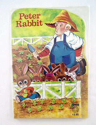 Vintage 1980 Peter Rabbit Fairy Tale Fold Out Book