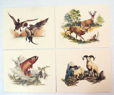 Vintage 1970's Fred Sweney Embossed Wildlife Print Set 1