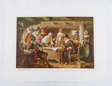 J.L.G. Ferris Signing the Mayflower Compact and The First Thanksgiving American Pageant Print Set