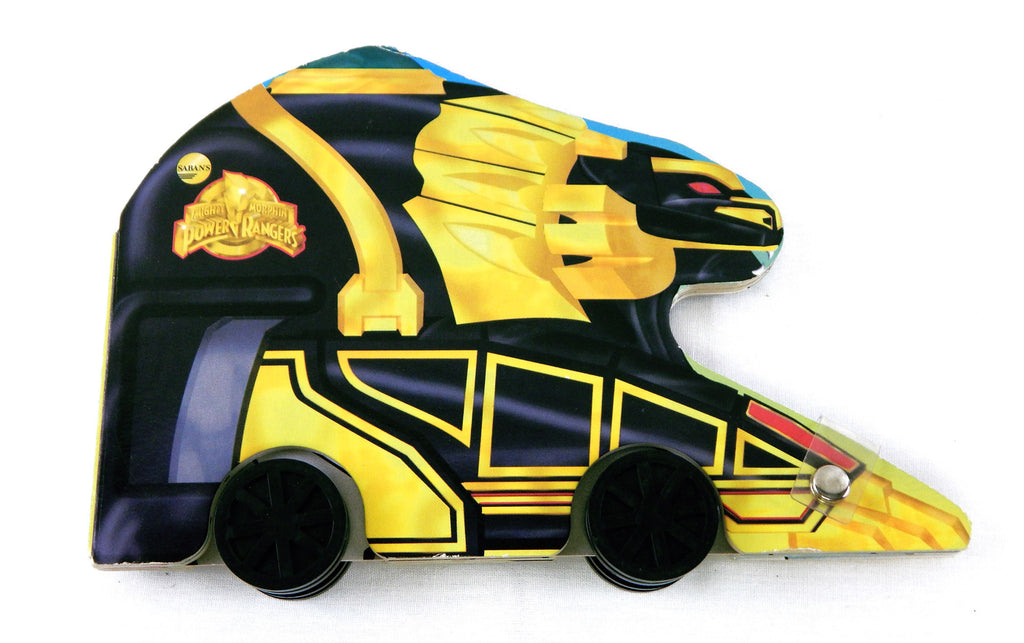 Vintage 1995 Mighty Morphin Power Rangers Mighty Lion Thunderzord Book on Wheels