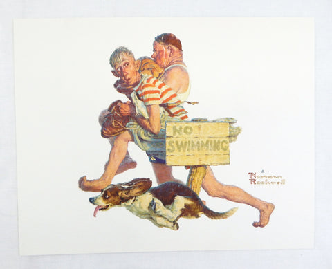Vintage 1970's Norman Rockwell Hasty Retreat Print