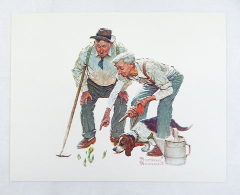 Vintage 1970's Norman Rockwell Shared Success Print