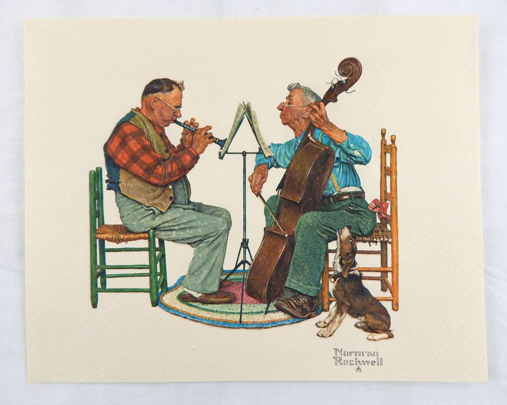 Vintage 1970's Norman Rockwell Canine Solo Embossed Print Old Timers Series