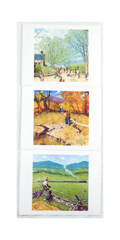 Vintage 1970's Norman Rockwell Childhood Treasures Series Three Print Set