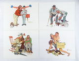 Vintage Norman Rockwell Good Friends Print Set and Portfolio