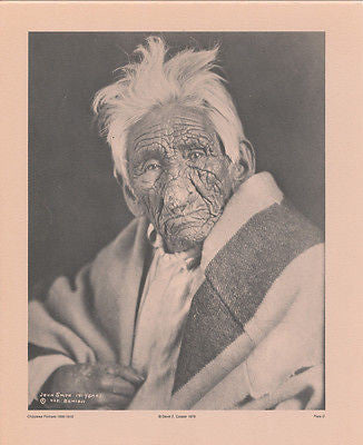 Vintage 1890 - 1910 Chippewa Portraits Native American Indian Print Plate D
