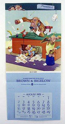 Vintage 1981 Lawson Wood Monkeys Do It Now Calendar Print