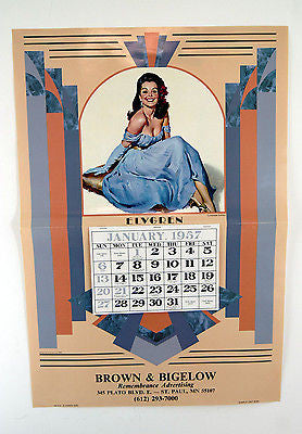 Vintage 1991 2019 1957 Gil Elvgren Lavender Lovely Pin Up Calendar