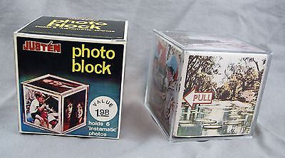 Vintage 1970's Justen Instamatic Photo Block Photo Holder Photo Frame