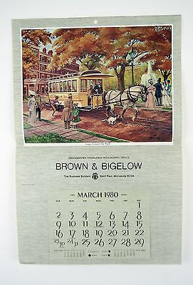 Vintage 1980 Fred Sweney Loop Around the Park Calendar Print