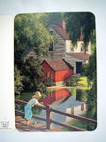 Vintage Paul Detlefsen Brown and Bigelow Good Old Summertime Greeting Card