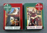 1995 Coca Cola Limited Edition Santa Claus Christmas Playing Cards and Tin