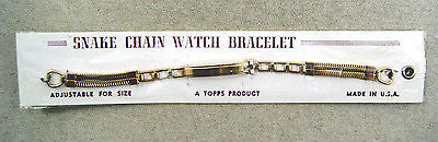 Vintage 1940's Topps Snake Chain Watch Bracelet Band