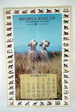 Vintage 1975 Joe Godfrey Dog Pictorial and Informational Calendar Print