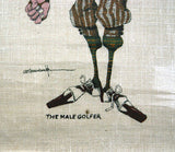 Vintage 1970's The Male Golfer Fabric Print