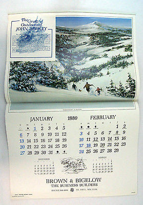 Vintage 1980 The Great Outdoors of John Berkey Calendar