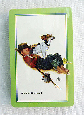 Vintage Norman Rockwell Adventures Between Adventures Playing Cards