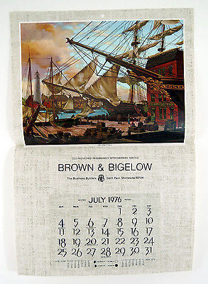 Vintage 1976 Fred Sweney At the Pier Calendar Print