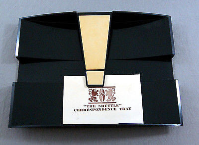 Vintage 1960's Brown and Bigelow Remembrance The Shuttle Correspondence Tray