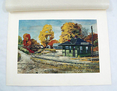Vintage 1960's A.R. Noble The Old Depot Print