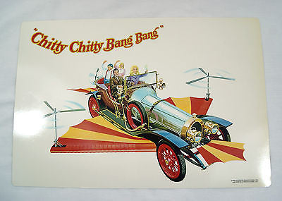 Vintage 1968 Chitty Chitty Bang Bang Set of Four Placemats Dinner Mats