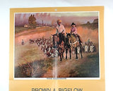 Vintage 1974 Tom Ryan The Hertitage Western Calendar Print